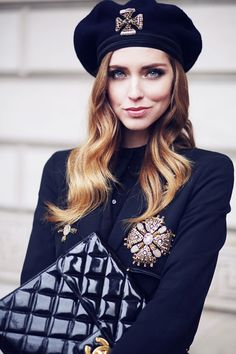 Alberta Ferretti blazer and hat
