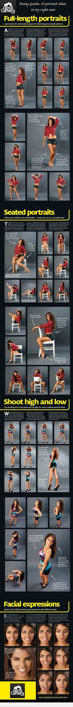 Posing Guide For Girls. This could be useful for posing pin-up :D