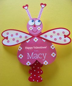 Dragonfly Valentine Card Craft by TBoneSquid on Etsy