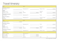 Free Travel Itinerary Printable to keep you organised - from @Matty Chuah Organised Housewife