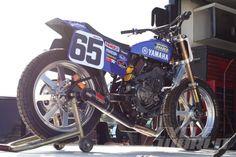 Yamaha FZ-07 Flat Tracker static rear view