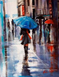 Helen Cottle, 1962 ~ Red umbrella | Tutt'Art@ | Pittura * Scultura * Poesia * Musica |