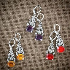 This week's #Fridayfavorite is our Swarovski crystal earrings in fall colors! Which color will you be wearing this fall? #sadiegreens #swarovski #jewelrygram
