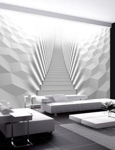 Papier peint Circles in the Space Living Room Interior, Home Interior Design, Living Room Decor, 3d Wanddekor, Floor Murals, Wall Murals, 3d Wall Decor, Classic Interior, Home Wallpaper