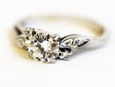 I love this gorgeous diamond ring c. 1950's #vintage #diamond #wedding