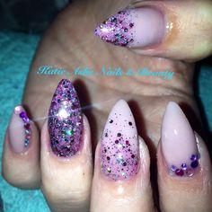 Lilac nude sparkle