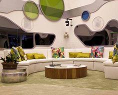 Sala da casa com toque futurista