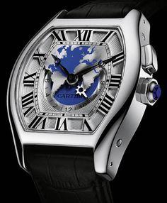Cartier Tortue Worldtime White Gold