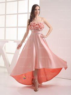 129.00$  Buy here - http://viiwo.justgood.pw/vig/item.php?t=sgy99u59605 - Elegant Peach Spaghetti Strap Beaded High Low Prom Dresses