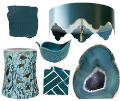 Love this color! Dark Teal Home Accessories - Dark Teal Decor - House Beautiful
