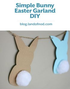 With just a few items you can create a Simple Bunny Easter Garland that will spruce up your home decor for Easter!