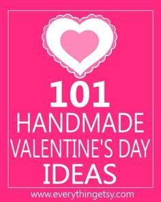 101 Valentine's Day Ideas and Tutorials at EverythingEtsy.com i-heart-valentines-day