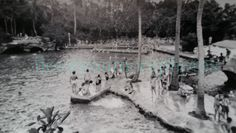 Vintage Photo..Pool Party Miami..1940's Original Photo Old Photo Snapshot Americana Everyday Life Photo Ephemera Altered Art Photo by iloveyoumorephotos on Etsy