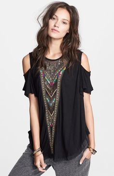 Free People Embroidered Mesh Top available at #Nordstrom