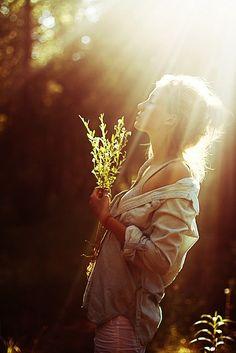 standing in sunshine