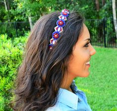 Avery Infinity Headband great for July 4th or team colors!
