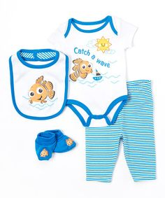 Blue Nemo Bodysuit Set by Finding Nemo #zulily #zulilyfinds
