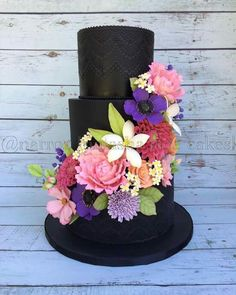 Black cake, beautiful