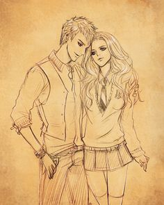 / PS + Hand drawing Teddy Remus Lupins and Victoire Weasley Teddy and Victoire Harry Potter Couples, First Harry Potter, Harry Potter Anime, Harry Potter Fan Art, Harry Potter World, Harry Potter Hogwarts, Victorie Weasley, Scorpius And Rose, Teddy Lupin