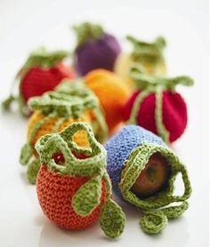 mini crochet pots
