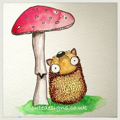 Little Horace the Hedgehog thinks rain is on its way... by cutedesigns, via Flickr