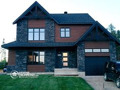 Our Best 115 Custom Home Photos and Custom Cottage Pictures Aka House, House On The Rock, Bungalow House Design, Modern House Design, Dream Home Design, Home Design Plans, Architecture Renovation, Drummond House Plans, House Elevation
