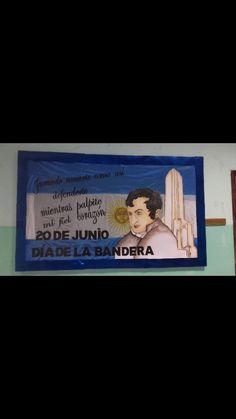 Cartelera día de la Bandera Argentina!!!! 👏 👏 Infant Learning Activities, Flags, Argentina, Crates, Drawings