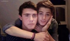Finn Harries and Alfie Deyes!!!! two favorite guys in one pic! overload!!!! Dead..............<3