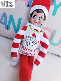 Recently Added - Spunky Stitches Elf Clothes, Shelf Ideas, Elf On The Shelf, Stitches, Lol, Holiday Decor, Home Decor, Dots, Shelving Ideas