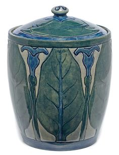 Newcomb College Pottery covered vessel (rare), executed by Sabina Elliot Wells