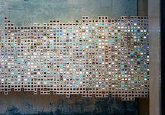 Anthropologie shop visual merchandising display installation, Rockefeller Center 2011