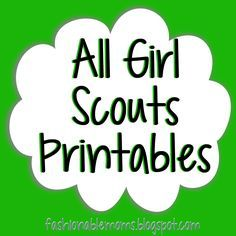 Girl Scouts Printables - cute -by level- cookie booth thank you cards, posters, etc