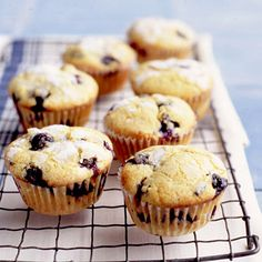 Using an ice-cream scoop makes it easy to divide the muffin batter evenly and neatly among the lined cups.Recipe: Double Blueberry Muffins