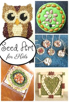 Art Ideas for Kids! Beautiful seed art for kids! These seed crafts are sure to welcome spring.Beautiful seed art for kids! These seed crafts are sure to welcome spring. Toddler Art Projects, Projects For Kids, Craft Projects, Nature Crafts, Kids Crafts, Arts And Crafts, Seed Art For Kids, Seed Germination For Kids, Travel Crafts