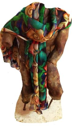 Art to wear; Art Rags scarf collection  #Scarf