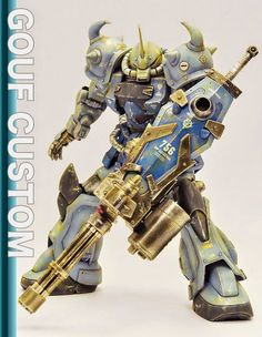 MG 1/100 Gouf Custom + Weathering - Customized Build - Gundam Kits Collection News and Reviews