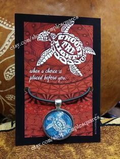 """Beautiful """"Choose The Right"""" LDS Pendant Necklaces Hawaiian Turtle Style etsy.com/shop/templesquares"""