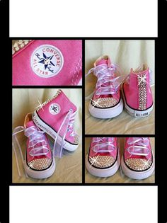 Pink Blinged Out Chuck Taylor Converse Sneakers on Etsy, $70.00