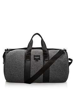 Cole Haan Neoprene Duffle Bag In Heather Gray Men Looks, Online Bags, Cole Haan, Heather Grey, Mens Fashion, Zip, Bag Men, Leather, Black