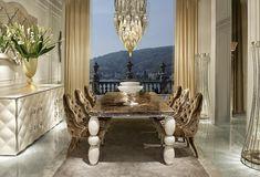 Cornelio Cappellini |  Luxury dining room. #corneliocappellini #luxuryhome #interior #homedecor #madeinitaly #style