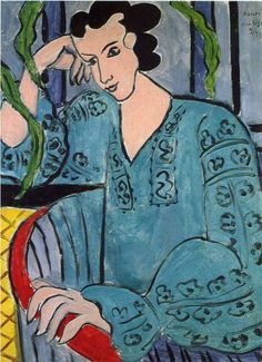 Henri Matisse (1869 - 1954) | Expressionism | The Romanian Green Blouse - 1939