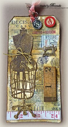 Bumblebees and Butterflies:  Dress form tag http://bumblebeesandbutterflieswithbrenda.blogspot.com/2013/05/rusted-architectural-habedashery.html
