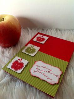 Apple #teacher thank you card