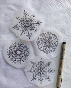 These beautiful things were created by ! And are di Mandala Tattoo Small Mandala Tattoo, Mandala Tattoo Design, Mandala Drawing, Mandala Flower Tattoos, Tattoo Flowers, P Tattoo, Tattoo Blog, Tattoo Drawings, Elbow Tattoos