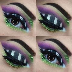 Are you looking for ideas for your Halloween make-up? Browse around this site for cool Halloween makeup looks. Beetlejuice Makeup, Beetlejuice Halloween, Female Beetlejuice Costume, Beetlejuice Characters, Beetlejuice Wedding, Eye Makeup Art, Goth Makeup, Eyeshadow Makeup, Makeup Ideas