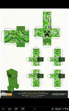 Minecraft papercraft creeper