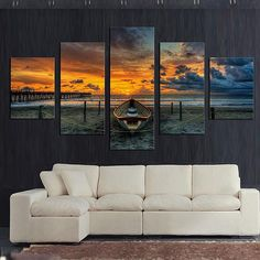 Style: Modern Form: Combined Material: Canvas Subjects: Seascape Brand Name: Artsailing Type: Canvas Printings Frame: Yes Original: Yes Technics: Spray Painting Support Base: Canvas Model Number: ny-4117 Medium: Canvas Printing Frame mode: Framed on back size 1: 20x35cmx2pcs, 20x45cmx2pcs, 20x55cmx1pc (8x14x2, 8x18x2, 8x22inch) size 2: 30x50cmx2pcs, 30x70cmx2pcs, 30x80cmx1pc (12x20x2, 12x28x2, 12x32inch)