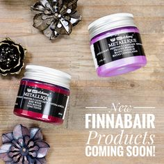 I can show you two totally new, lush colors from my ArtAlchemy Acrylic Metallique Paints line with tasty very names - Red Wine and Frozen Berries. Excited? I am :) #finnabair #sneakpeek #newrelease #winter2018 #newproducts