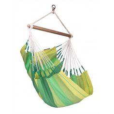 Grüner La Siesta Hängesessel Baumwolle -  Modell Orquídea jungle