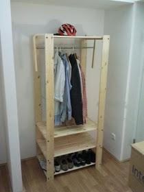 Ikea Hack: Gorm shelving. But use PAX 75cm rail fits PERFECTLY on GORM 77 cm shelf. Or Antonius rods.